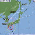台風5号(ウサギ)が接近中